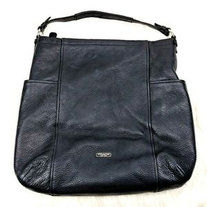 Coach Factory Park Black Pebbled Leather Hobo Bag